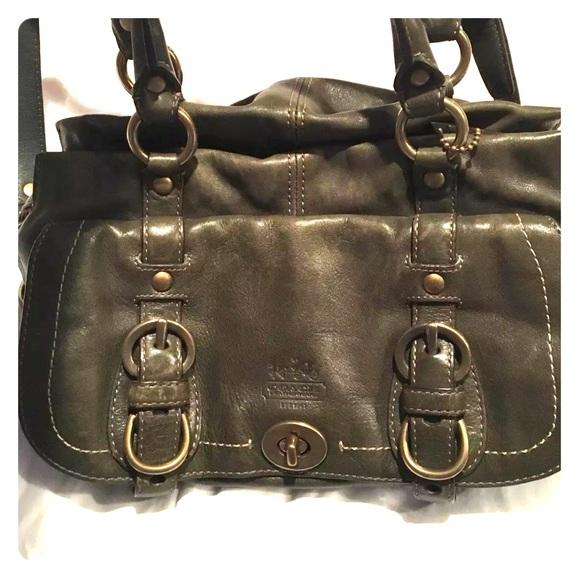 ... shoulder bag slant handbag deep 707e6 70b93  coupon code for coach  legacy garcia green leather satchel 12704 61bcb 3552b 16978d3423ee2